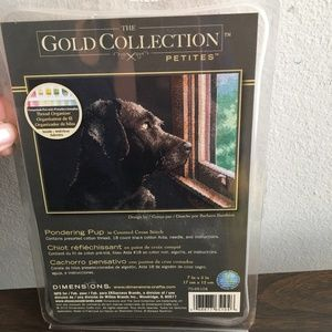 e- Gold Collection  Pondering Pup cross stitch kit